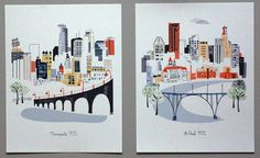 Minneapolis MN by albiedesigns on Etsy, $30.00