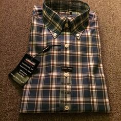 Men's L long sleeve button down New w tags, Kirkland, L collard ,100% cotton, long sleeve button down dress shirt. 16 1/2 x 32/33 Kirkland Tops Button Down Shirts