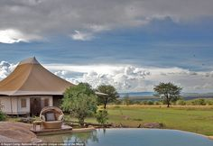 Sayari Camp is one of the few safari lodges permitted in the northern Serengeti, Tanzania,...