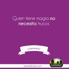 Quien tiene magia no necesita trucos. #organizadoresdeeventos #fiesta #cultura ¡Feliz Jueves!
