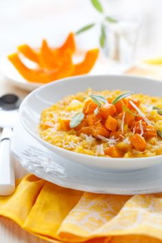 This Sweet Potato Risotto would partner a big green salad deliciously!