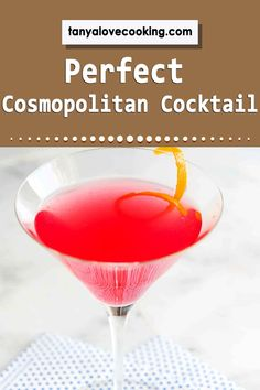 A perfectly delicious cosmopolitan recipe sure to please even the pickiest palate! Drinks Alcohol Recipes, Cocktail Recipes, Drink Recipes, Alcoholic Drinks, Cosmopolitan Cocktails, Most Popular Drinks, Blended Drinks, Martini, Rum