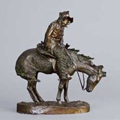 Frederic Remington, The Norther, unnumbered cast, private collection    bronze sculptures, lifetime bronze casts, Remington paintings, horse sculptures, Remington sculptures paired with paintings, Sid Richardson Museum, Charles M. Russell, 19th century American West, Old West, Sid W. Richardson, museum, Fo