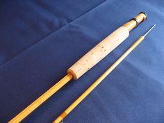 """原田竹竿 中空モデル  7'3""""#3 2ピース1ティップ-Bamboo Fly Rod"""