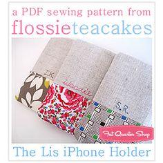 Flossie Teacakes iPhone holder PDF pattern