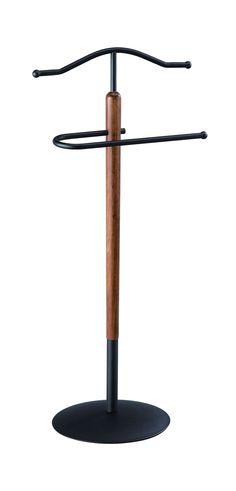 Aspect Grayson Suit Butler/Men's Valet/Coat Stand, Metal, Black/Walnut, 47 x 34 x 110 cm: Amazon.co.uk: Kitchen & Home