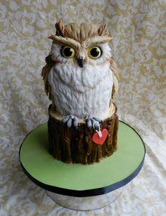 Owl by Cake Wrecks - Home Crazy Cakes, Fancy Cakes, Cute Cakes, Owl Cakes, Bird Cakes, Cupcake Cakes, Cake Wrecks, Unique Cakes, Creative Cakes
