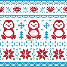 Weihnachten und Winter Strickmuster, card - scandynavian Pullover Stil Stockfoto