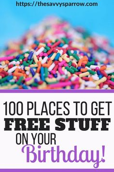 Where to get free stuff on your birthday! Get the ultimate list of birthday freebies and get free meals, free beauty products, free ice cream and more on your birthday! Freebies On Your Birthday, Free On Your Birthday, Birthday Deals, Birthday Wishlist, Birthday Stuff, Happy Birthday, Free Stuff By Mail, Get Free Stuff, Coupons For Free Items