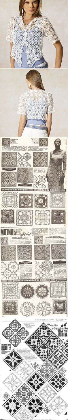 """square motif / schemas...♥ Deniz ♥ [ """"The square motif."""", """"Dress with a square motif."""", """"Posts on the topic of crochet added by Celeste Fernandes"""" ] # # #Crochet #Edgings, # #Crochet #Motif, # #Irish #Crochet, # #Crochet #Stitches, # #Crochet #Patterns, # #Crochet #Blouse, # #Crochet #Dresses, # #Crochet #Butterfly, # #Crochet #Fashion"""