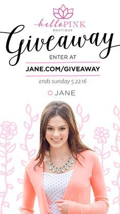 Jane.com + Hello Pink Boutique Giveaway = $500 in Store Credit + Amazon OR Target Gift Cards to 3 lucky winners!