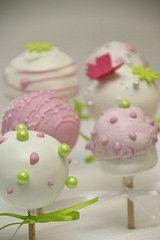 Cake-Pops rosa zartgrün