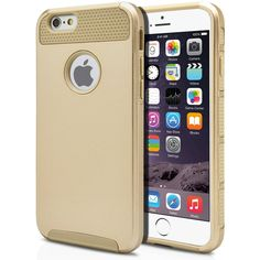 iPhone 6 Case Cute Protective Hard Shockproof [Drop Protection] Fashion Cover for Apple iPhone 6 (4.7') Impact Resistant Hybrid Slim Armor Case [ Gold / Gold ] with Clear Screen Protector | MagicMobile
