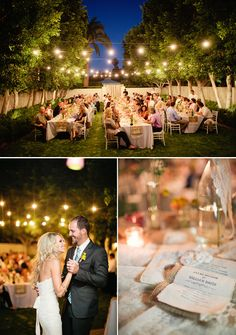 Seems like the perfect weather and style for a magical wedding.