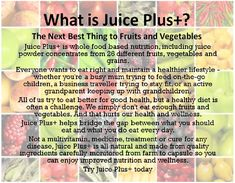 What is Juice PLUS+? https://www.daina.juiceplus.com