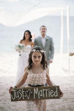 Lovely flowergirl - Costa Rica Destination Wedding captured by Julie Comfort of Comfort Studio, Second Shooter - via ruffled