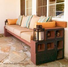 un canapé en parpaing pour votre jardin!