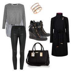casual by vanessagutaj on Polyvore featuring polyvore, fashion, style, French Connection, Ted Baker, Giuseppe Zanotti, River Island and EF Collection