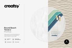Round Beach Towel 2 Mockup by Creatsy on @creativemarket