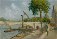 Le Pont du Carrousel et le Quai Voltaire (The Pont du Carrousel and the Quai Voltaire, Paris) par Maximilien Luce