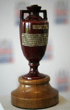 "In 1882, Australia recorded their first test Match victory on English soil, at the Oval. ""English cricket died today."" said an 'obituary' in the Sporting Times. ""The body will be cremated, and the ashes taken to Australia."" Ever since then, when England and Australia play each other at anything, it is said to be ""... for the Ashes."""