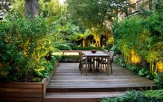 The lush garden design for this South London home sustains a modern, subtropical haven enjoyed all year round, abundant in luxuriant foliage, warm material tones and natural, verdant ambience. Garden Design London, London Garden, Modern Garden Design, Garden Landscape Design, Bamboo Garden, Lush Garden, Balcony Garden, Green Garden, Tropical Landscaping
