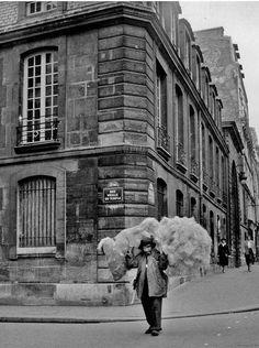 """Paris 1956 """"Rue Vieille du Temple""""  by Janine Niepce"""