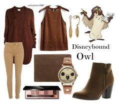 """Disneybound Owl"" by misscoco108 on Polyvore featuring Mode, Acne Studios, River Island, Reneeze, Skagen, Bobbi Brown Cosmetics, Decree und Coach"