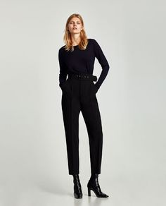 ZARA - WOMAN - CREPE TROUSERS WITH BELT