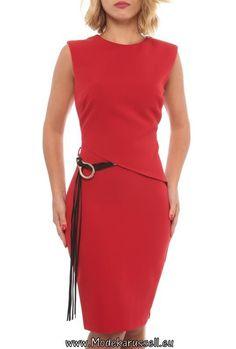 Büro Bodycon Kleid Annabell Rot Knielang