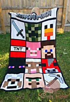 Minecraft afghan!!!! from crafty ridge.com
