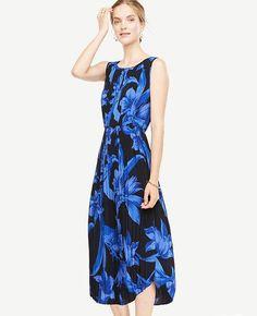 #Ann Taylor - #Ann Taylor Ann Taylor Petite Tropical Garden Pleated Midi Dress - AdoreWe.com