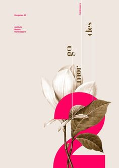 Poster by Xavier Esclusa / / Hairdressers - .- Poster von Xavier Esclusa / / Friseure – Poster by Xavier Esclusa / / Hairdressers – # - Graphic Design Posters, Graphic Design Typography, Graphic Design Inspiration, Branding Design, Poster Designs, Simple Poster Design, Flower Typography, Minimalist Poster Design, Flower Graphic Design