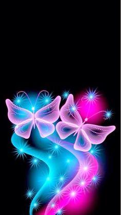 Stars and Butterflies - and CG Wallpaper ID 1703115 - Desktop Nexus Abstract Cute Wallpapers, Wallpaper Backgrounds, Iphone Wallpaper, Butterfly Wallpaper, Pink Butterfly, Geniale Tattoos, Butterfly Pictures, 5d Diamond Painting, Beautiful Butterflies