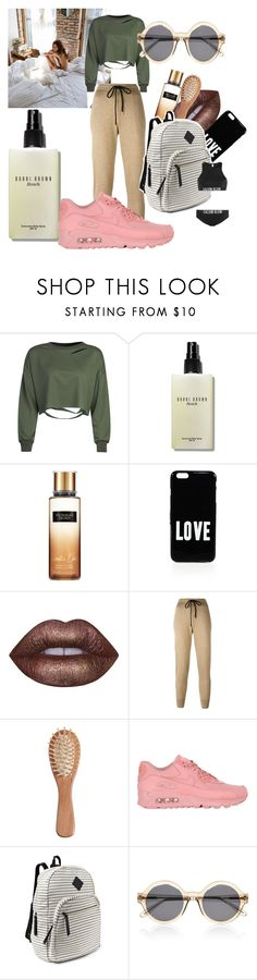 """london"" by cashtonlv on Polyvore featuring WithChic, Bobbi Brown Cosmetics, Victoria's Secret, Givenchy, Lime Crime, Markus Lupfer, The Unbranded Brand, NIKE, Steve Madden and Illesteva"
