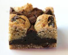 בראוניז ללא גלוטן עם עוגיות שוקולד צ'יפ