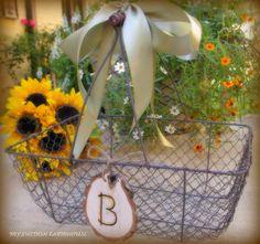 Wedding Card Basket Card Box Chicken Wire by MinSvenskaLandgard, $36.00