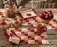 Apple Jack Table Runner 13X54