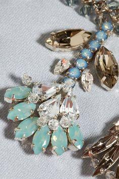 Beaded - Miu Miu close up Tambour Beading, Tambour Embroidery, Couture Embroidery, Embroidery Fashion, Embroidery Applique, Embroidery Designs, Abstract Embroidery, Miu Miu Tasche, Motifs Perler