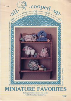 "FIVE SEWING PATTERNS to make a Bunny, Lamb, Cat, Dog, and Bear - ""Miniature Favorites"" - at KrissesKorner on Etsy"