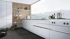 moderne Siematic Pure keuken wit en hout