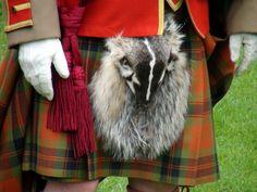 kilt with badger sporran