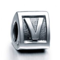 Sterling Silver Alphabet V Beads Charms  Fit pandora,trollbeads,chamilia,biagi,soufeel and any customized bracelet/necklaces. #Jewelry #Fashion #Silver# handcraft #DIY #Accessory