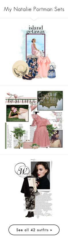 """My Natalie Portman Sets"" by seafreak83 ❤ liked on Polyvore featuring Philosophy di Lorenzo Serafini, Eugenia Kim, Miss Selfridge, Talbots, Rubeus, Allurez, Pink, tropical, vacation and hawaii"