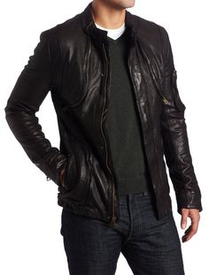 Find everything but the ordinary Brown Leather Jacket Men, Leather Jacket Outfits, Lambskin Leather Jacket, Vintage Leather Jacket, Leather Men, Leather Jackets, Revival Clothing, Men's Clothing, Cargo Jacket
