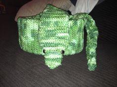 Handmade Green snake crochet scarf