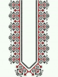 This Pin was discovered by Öme Folk Embroidery, Hand Embroidery Designs, Cross Stitch Embroidery, Embroidery Patterns, Cross Stitch Borders, Cross Stitch Designs, Cross Stitch Patterns, Motifs Blackwork, Palestinian Embroidery