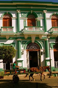 Colonial architecture can be seen in the hotels in Granada, Nicaragua
