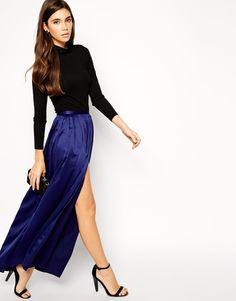 ASOS Maxi Skirt with Soft Split