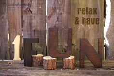 Wooden Letters F U N by LFM ( 19 cm x 18 mm )
